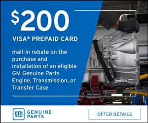 $200 GM Certified Service Rebate Offer