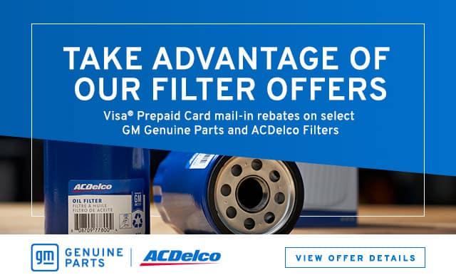 ACDELCO Consumer Filter Rebate