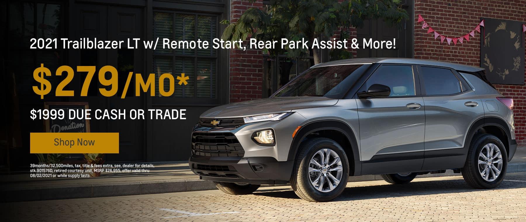 2021 Trailblazer LT w/ Remote Start, Rear Park Assist & More! $279mo.*