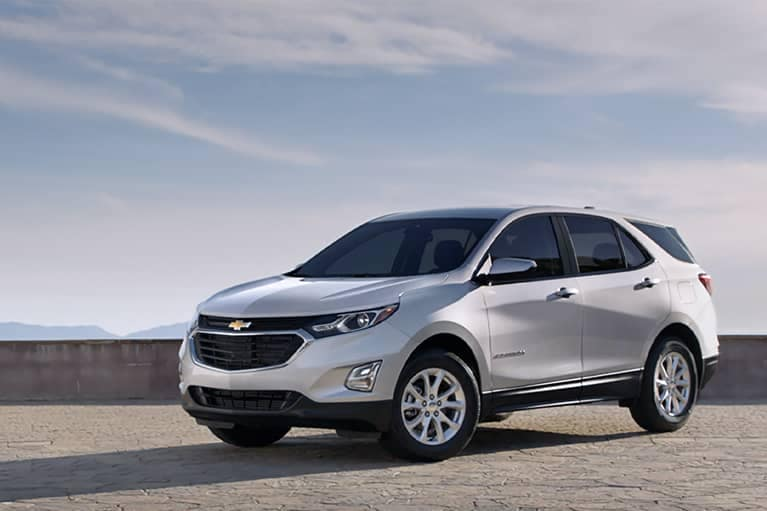 White 2021 Chevrolet Equinox parked - mobile