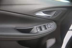 The interior door of a new Buick