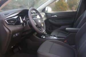 The interior of a new Buick in Edmond Oklahoma