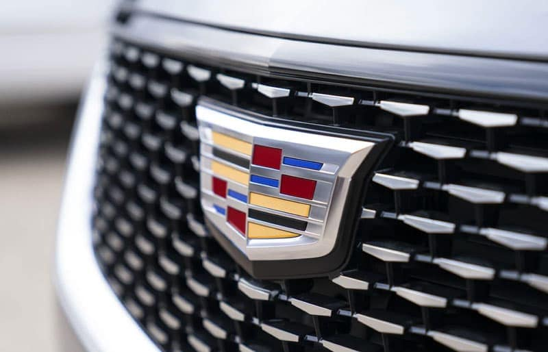 Cadillac grill close up