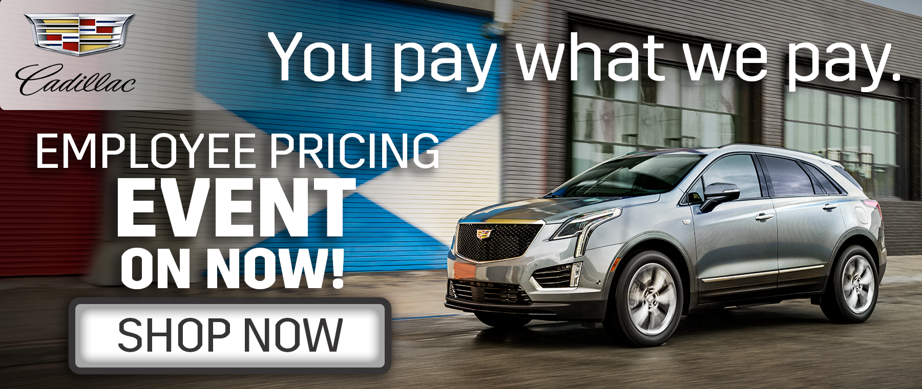 Cadillac Employee Pricing Banner