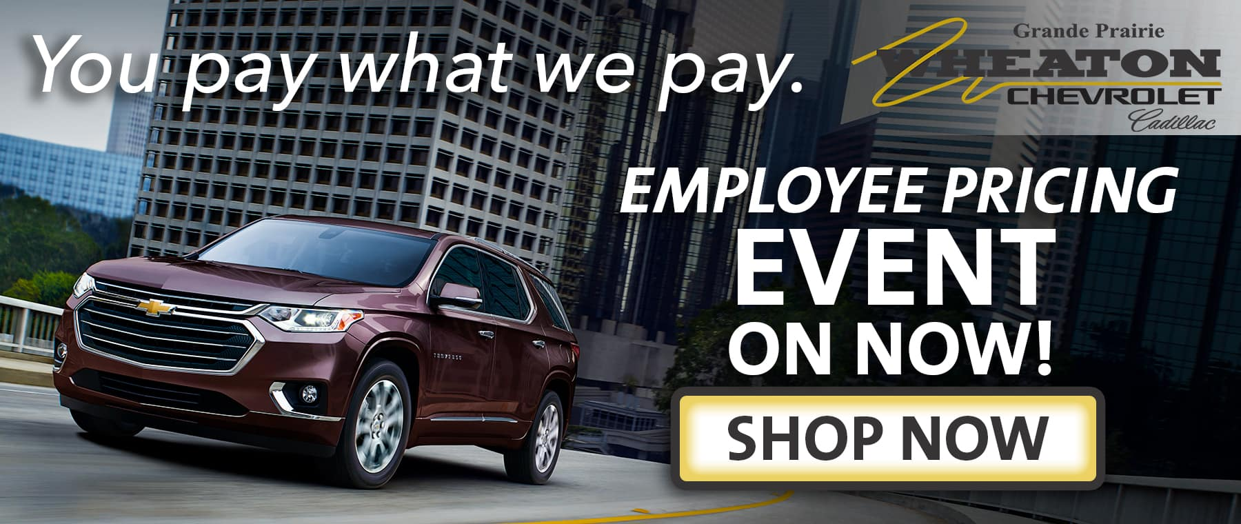 Chevy Employee Pricing Banner
