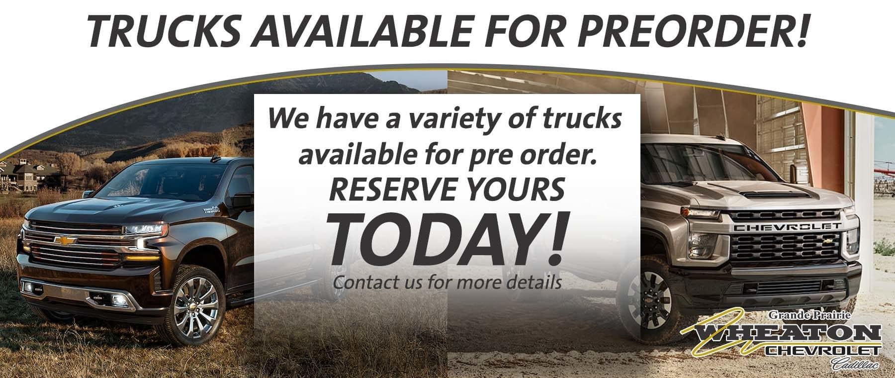 Preorder Trucks Updated